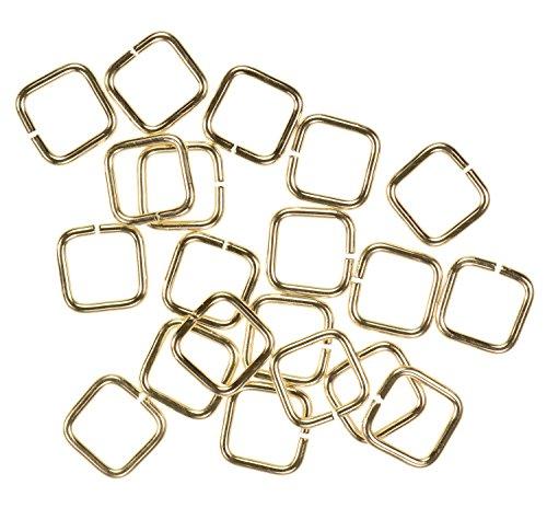 - uGems 20 14K Gold Filled Jump Ring Square 20ga 6mm