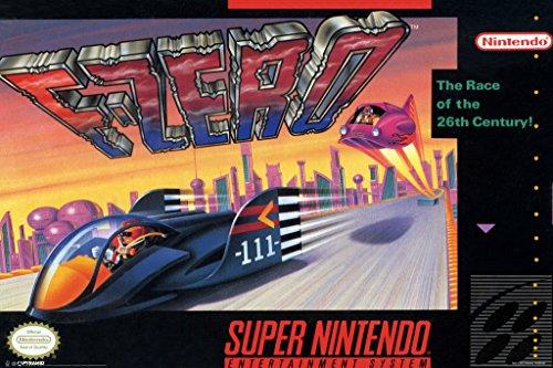 [F Zero Super Nintendo EAD Futuristic Racing Video Game Arcade Box Art Series Print Poster 12x18] (Video Game Box Art)