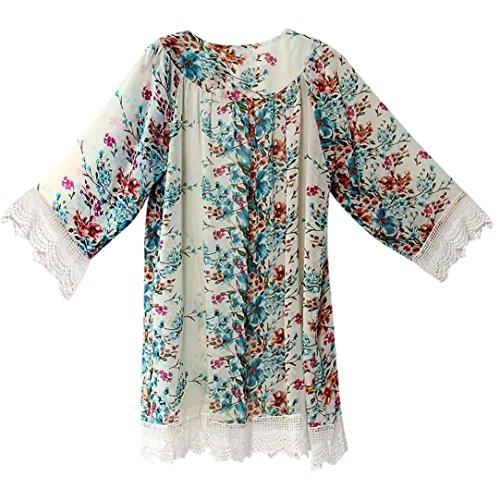 manche Femme Femmes Manteaux Mode vrac Transer 4 en 3 Dames Cardigan Kimono Imprim Fille 8pxwqdtq