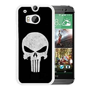 punisher skull White Recommended Customized Design HTC ONE M8 Case