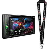 Pioneer AVH-201EX DVD Receiver w/ 6.2 WVGA Display, Built in Bluetooth, iPod, and Android Compatibility with a Remote Control and a SOTS Lanyard