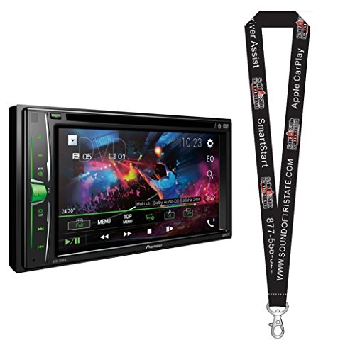 Cheap Pioneer AVH-201EX DVD Receiver w/ 6.2″ WVGA Display, Built in Bluetooth, iPod, and Android Compatibility with a Remote Control and a SOTS Lanyard