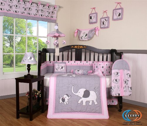 Elephant 13pcs Crib Bedding Sets
