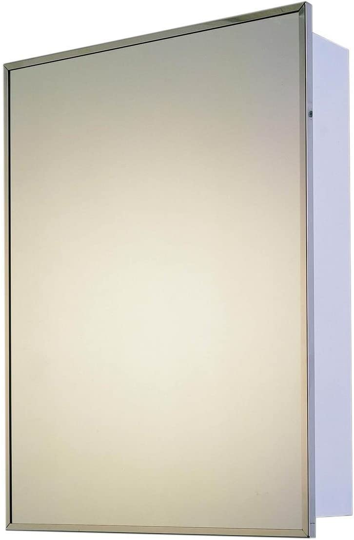 Ketcham Cabinets Deluxe Series Recessed Medicine Cabinet Stainless Steel Framed 16 x22
