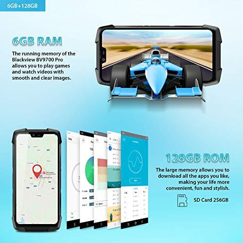 """Telephone Incassable, Blackview® BV9700 Pro Smartphone Débloqué 4G (5.84"""", 6Go+128Go, 16/8MP+16MP, Android 9.0, Helio P70) Telephone Portable Incassable, Caméra Vision Nocturne/Fréquence Cardiaque 3"""