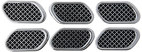 Pilot Automotive Chrome Pilot CZ-256 Sport Mesh Fender Port Body Accents - Set of 6