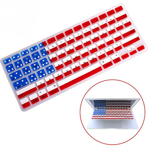 NeeJee US Stars and Stripes Flag Keyboard Protector Cover-Silicone Guard for Apple Macbook Air/Pro (13 - American Flag Keyboard