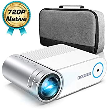 Mini Projector, GooDee G500 HD Video Projector 4000 Lux with 50,000 Hrs, 200 inch Home Theater Movie Projector, 1080P Supported Compatible with Fire TV Stick, PS4, HDMI, VGA, USB