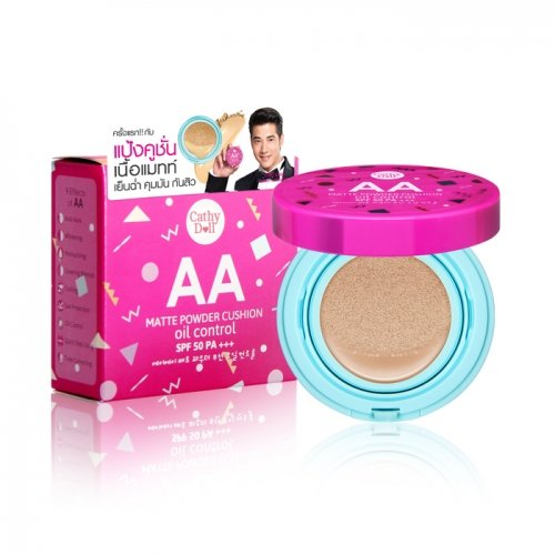 AA Matte Powder Cushion Oil Control SPF50 PA+++ 15g Cathy Doll # 21 Light Beige (Matt Touch Foundation Oil)