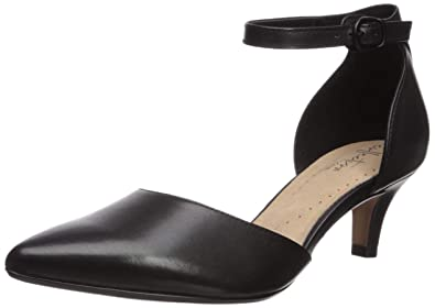 3212b50e6b CLARKS Women's Linvale Edyth Pump Black Leather 050 ...