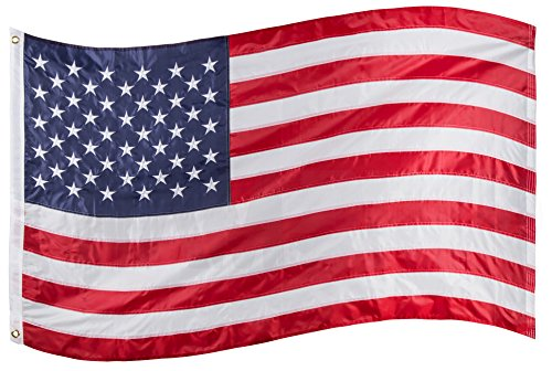 RAM-PRO 3x5 ft. American Flag, Premium Quality 200 Denier Solarmax All-Weather Nylon, Embroidered Stars, Sewn Stripes, Brass Grommets, Clearly Visible USA Flag, Old Glory, Flag of the United - Mall Stores Citadel