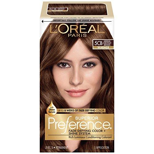 Price comparison product image L'Oréal Paris Superior Preference Permanent Hair Color, 5CB Medium Chestnut Brown