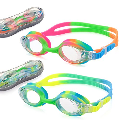 UShake Kid Swim Goggles, Anti-Fog Lens and Hypoallergenic