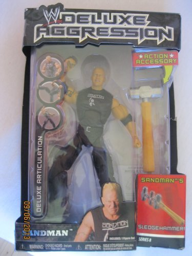 WWE Deluxe Aggression Action Figure - Sandman w/ action accessory