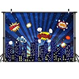 Mehofoto Superhero Backdrop Superhero Party Background Photography Evening Nightscape Photo Backdrops for Photographers 7x5 Custom Professional Photo Shoot Props