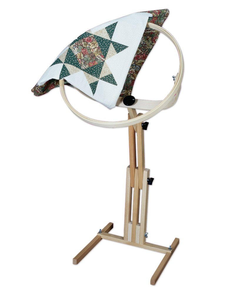 Quiltrite Quilter's Wonder Hoop with Adjustable Stand, 18-Inch QR-2645