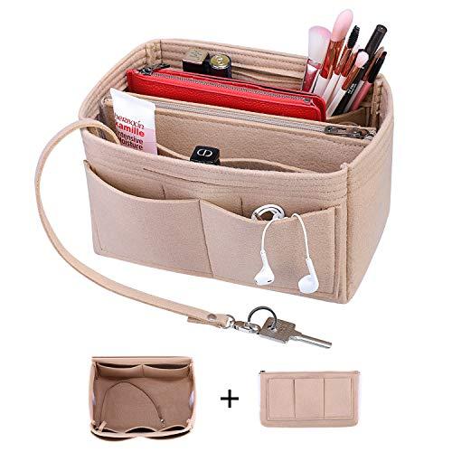 S-ZONE Purse Organizer Insert Felt Inner Pocket Bag Shaper Bag Fits Handbag Tote Bag Neverfull Speedy