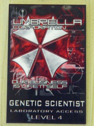 HALLOWEEN COSTUME MOVIE PROP - ID Security Badge Umbrella Corporation (Resident Evil) Genetic Scientist]()