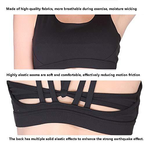 Dry Top Cintura Antiurto Palestra Yoga Quick Five Running Black Reggiseno Sportivo Comfort Imzoeyff Cxw0z1qPc
