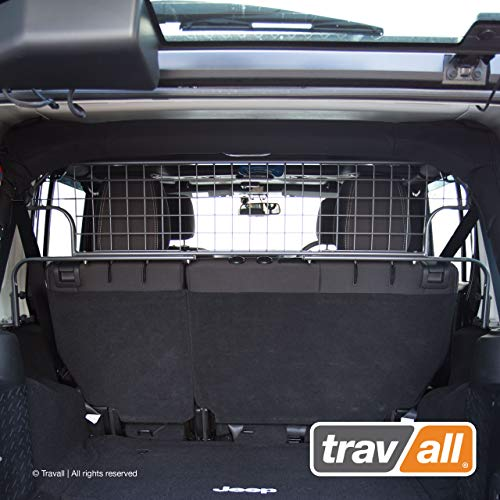 - Travall Guard Compatible with Jeep Wrangler Unlimited (2006-2018) TDG1536 - Rattle-Free Steel Pet Barrier