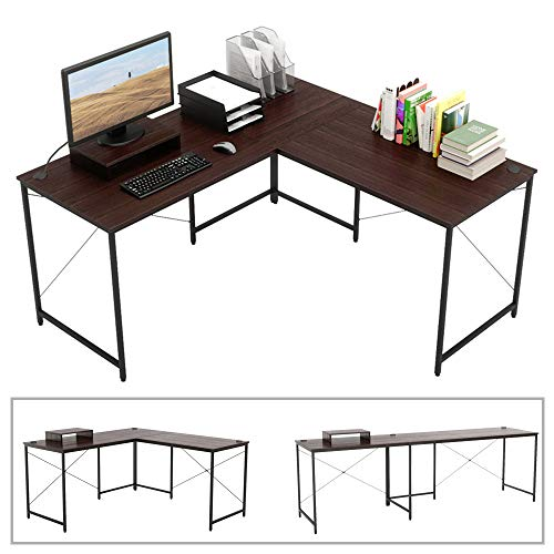 Bestier L-shaped computer desk
