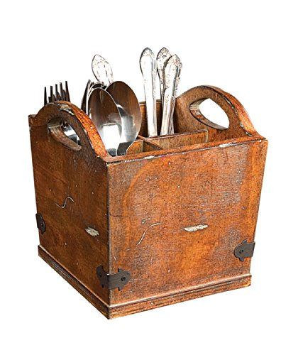 Square Wood Utensil Holder