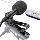 Lavalier Lapel Microphone  Omnidirectional Mic with Easy Clip On System  Perfect