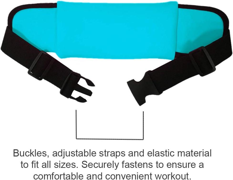Marvorem Sports Waist Bag Compatible with Huawei P30 Pro Waterproof Reflective Pockets for Hydration Bottles Adjustable Strap Belt Running