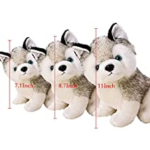 """Sealive 28cm/11"""" Super Cute&Cuddly Soft Plush Stuffed Cute Animal Doll Toy Holiday Kid Gift,Husky Pet Dog Plush Pillow ,For 1-18 Years Kids Children"""