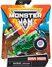 Monster Jam Original Monster Jam Truck med Wheelie-hjul i skala 1:64 (sortering med olika designer, slumpmässigt urval)