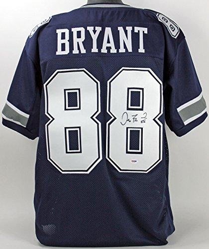 Cowboys Dez Bryant Authentic Signed Blue Jersey Autographed PSA/DNA