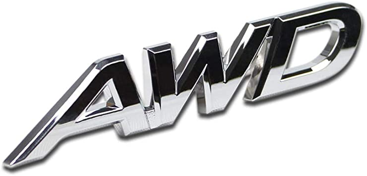 4WD Car Chrome Sticker Badge Emblem For All Wheel Drive Off Road Auto