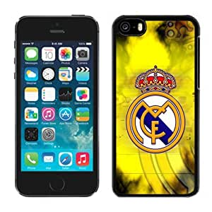Unique DIY Designed Case For iPhone 5C With Soccer Club Real Madrid 03 Football Logo Cell Phone Case