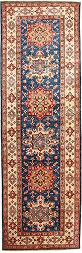 Super Kazak Navy Afghan Handmade Oriental Rug (12251) 3' 1