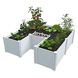 Vita Gardens VT17107 6x6 Composting Raised Garden Bed 4 Uses FAR less water than in-ground gardens (up to 70%) perfect for drought areas Composts and grows vegetables in same system Use daily kitchen Scraps reducing household waste by up to 30%