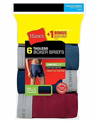 Hanes Men's FreshIQ Comfort Flex Waistband Boxer Brief 6-Pack - Assorted - Medium