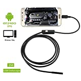 MiluoTech USB Endoscope, 2 in 1 Borescope Inspection Camera 2.0 Megapixel CMOS HD Waterproof Snake Camera with USB Adpater and Adjustable LED Light - 2 Meter