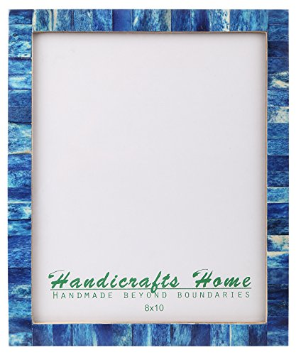 Handicrafts Home 8x10 Bone Picture Frames Chic Photo Frame Handmade Vintage from (8x10 Inches, Blue)