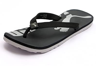 11edf303a8e4 Puma Unisex Jhon Black White Flip Flops (7 Uk)  Buy Online at Low Prices in  India - Amazon.in