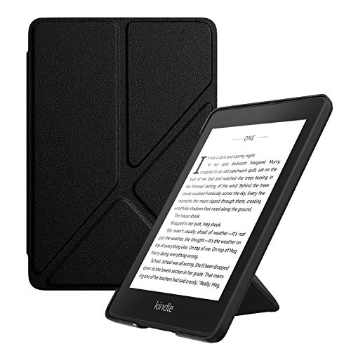 MoKo Case Replacement with Kindle Paperwhite (10th Gen, 2018 Releases), Standing Origami Slim Shell Cover with Auto Wake/Sleep for Amazon Kindle Paperwhite 2018 E-Reader - Black