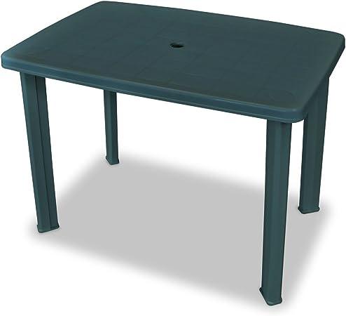 Festnight Table de Jardin en Plastique 101 x 68 x 72 cm Vert ...