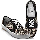 Disney Caught In The Moment Mickey And Minnie Women's Canvas Shoes: 9 M US women