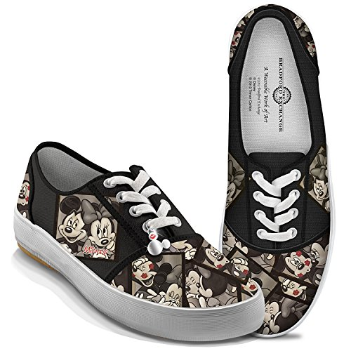 Bradford Exchange Disney Caught in The Moment Mickey and Minnie Women's Canvas...