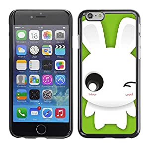 """Exotic-Star ( Cute Winking Bunny Rabbit ) Fundas Cover Cubre Hard Case Cover para 5.5"""" iPhone 6 Plus"""
