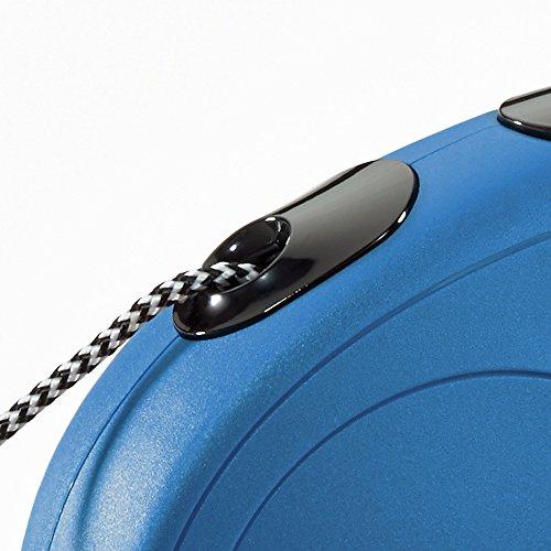 Flexi New Classic Retractable Dog Leash (Cord), 16 ft, Medium, Blue