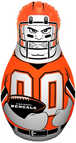 (NFL Cincinnati Bengals Tackle Buddy Inflatable Punching Bag, Team Color)