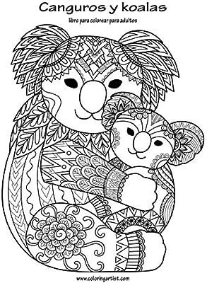 Canguros Y Koalas Libro Para Colorear Para Adultos 1 Amazon