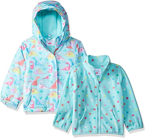 The Children's Place Baby Girls 3 in 1 Jacket, Mint Tea, 12-18MOS