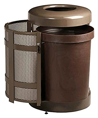 rubbermaid commercial products fga38tsdbkpl architek decorative outdoor trash can funnel top. Black Bedroom Furniture Sets. Home Design Ideas