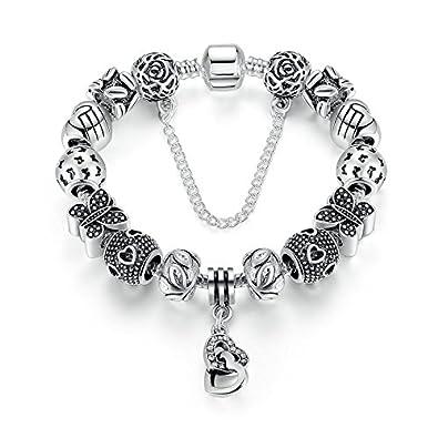 b0531623d shop fc jewelry fit original pandora charm bracelet 925 silver family robot  boy girl letter best friends 4731b 6175d; discount carina sterling silver  ...